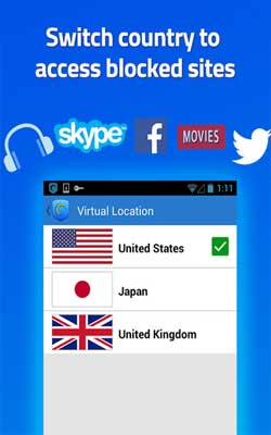 Hotspot Shield VPN 3.8.1 Screenshot 1