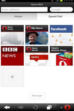 Opera Mini 7.6.1 Screenshot 1