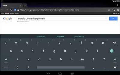Android L Keyboard 3.1.20007 Screenshot 1