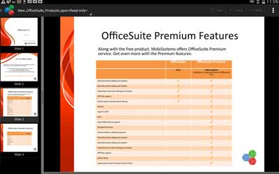 OfficeSuite 8 + PDF Converter 8.1.2754 Screenshot 1