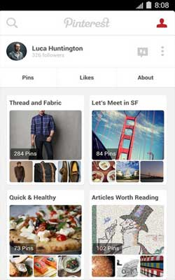 Pinterest 4.2.1 Screenshot 1