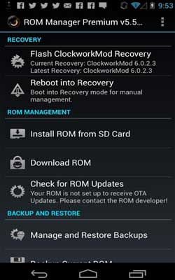 ROM Manager 5.5.3.2 Screenshot 1