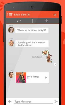 Tango Messenger 3.16.150924 Screenshot 1