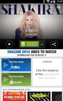 Shazam 4.9.2 Screenshot 1